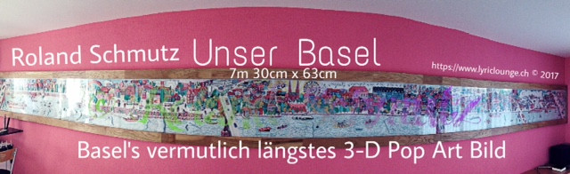 Das wohl längste 3-D Pop Art Bild Basel's