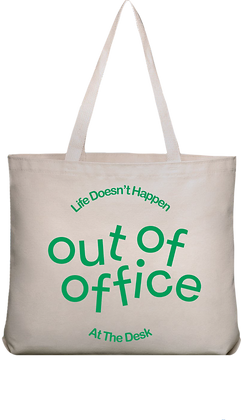 out of office Logo Bag