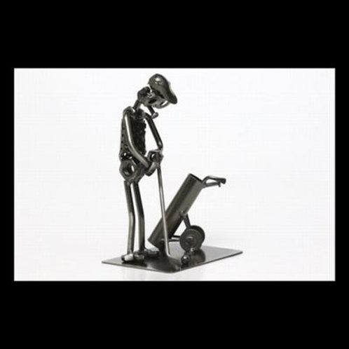 """Metal Welded Art """"The Golfer"""""""