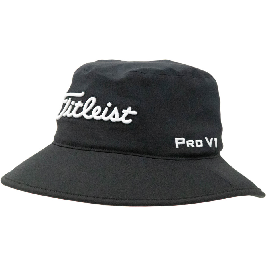 Titleist-StaDry-Rain-Bucket-Hat-(Black)-