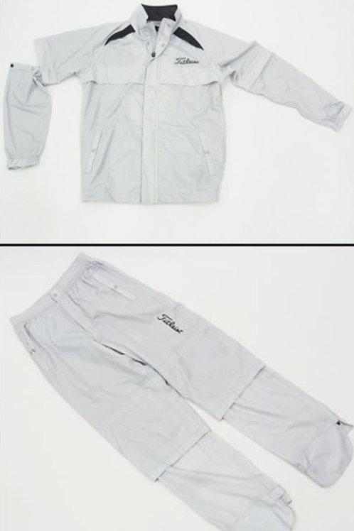 複製 Titleist Rain Jacket & Pants (Light Gray)