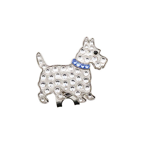 Scottie Dog Ball Marker Adorned with Crystals from Swarovski