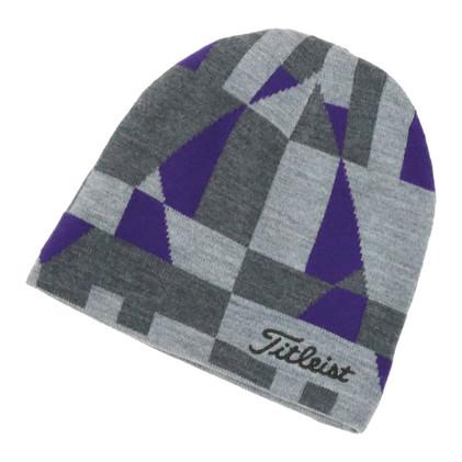 Titleist リバーシブルニットキャップ (Grey/Purple)-1.j