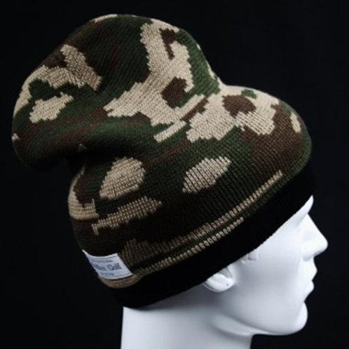M's Design  Camo Knit Cap Olive