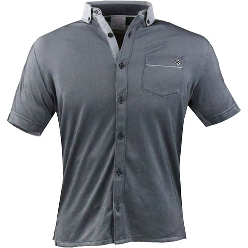 IJP European Button Down Polo with Pocket