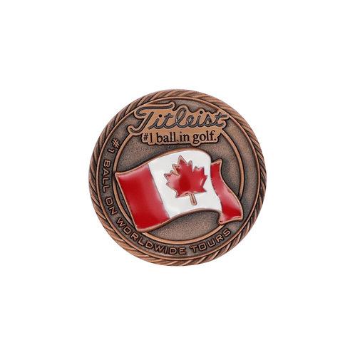 Titleist Flag Metal Ball Marker Canada (Large)