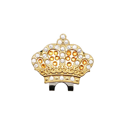 Crown Ball Marker Adorned with Crystals from Swarovski (Yellow)