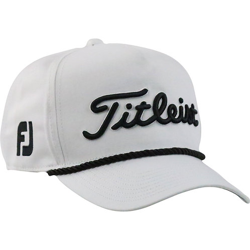 Titleist Tour Rope Cap (White/Black) フリーサイズ