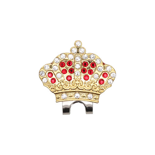Crown Ball Marker Adorned with Crystals from Swarovski (Red)