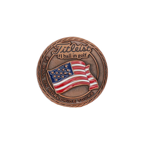 Titleist Flag Metal Ball Marker USA (Large)