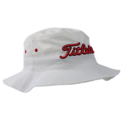 Titleist Bucket Hat (White/Red)