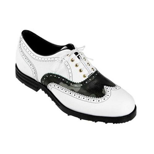 """複製 G/FORE Men's Golf Shoes """"CRUSADER"""" (Black/White)"""