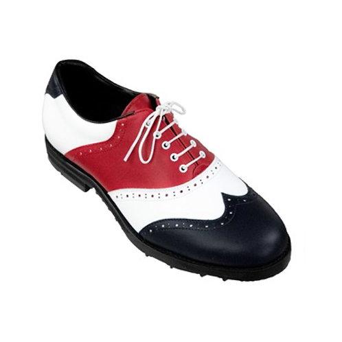 """複製 G/FORE Men's Golf Shoes """"CRUSADER"""" (White/Black/Red)"""