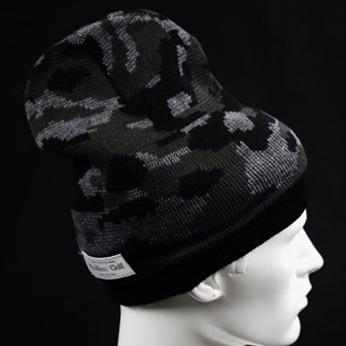 M's Design  Camo Knit Cap Dark Gray