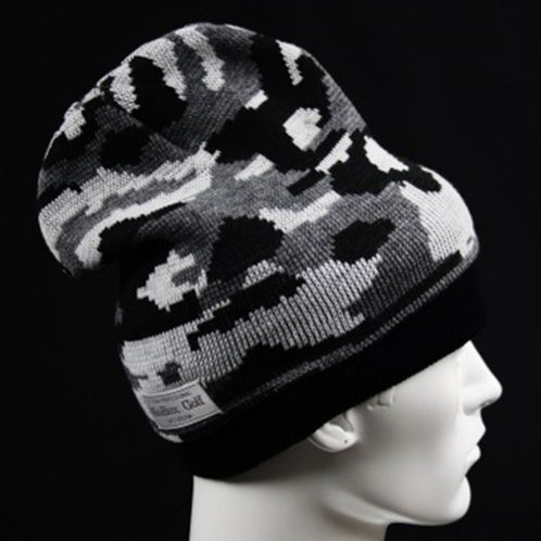 M's Design  Camo Knit Cap Light Gray