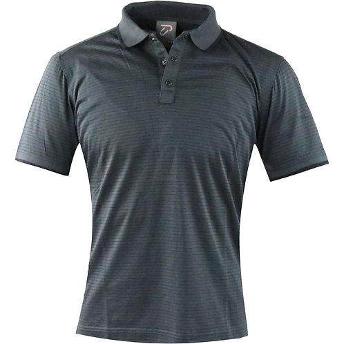 IJP European Short Collar Polo (Gray/Black Line)