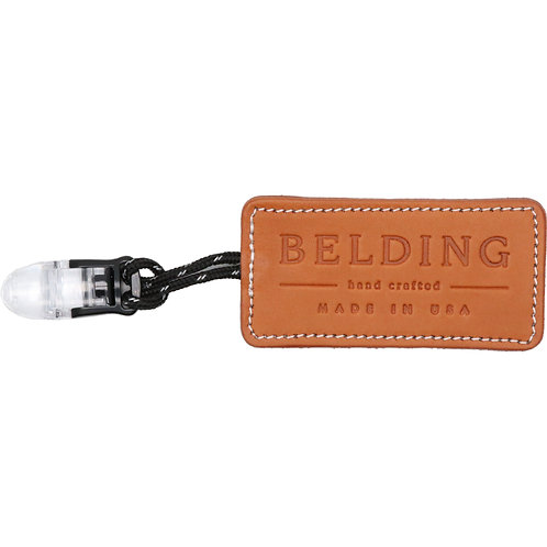 BELDING Genuine Leather Putter Cover Leash (Brown)