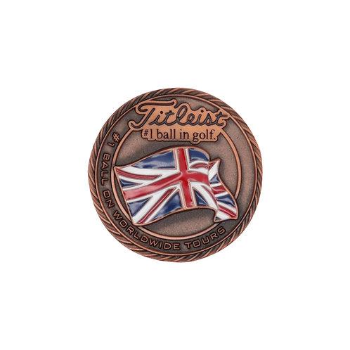 Titleist Flag Metal Ball Marker England (Large)