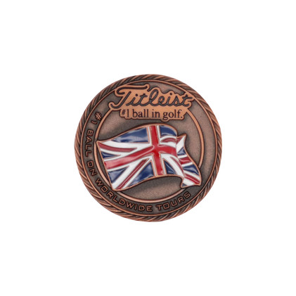 Titleist-Flag-Metal-Ball-Marker-England-
