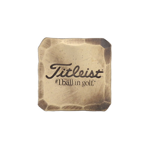 Titleist Hand Forged Square Ball Marker (Bronze)