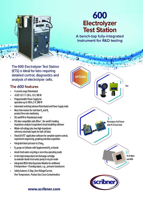 07-600 Electrolyzer Data Sheet Rev H A4