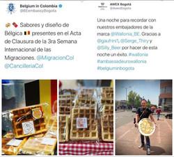 Representando a Bélgica en Colombia