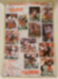 Autographed 20000 Syracuse Football poster signed by former NFL players