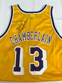 Wilt Chamberlain's LA Lakers Signed Jersey