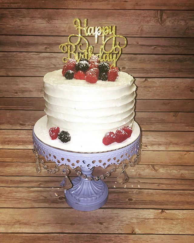 Berry Birthday Cake w/ Topper added