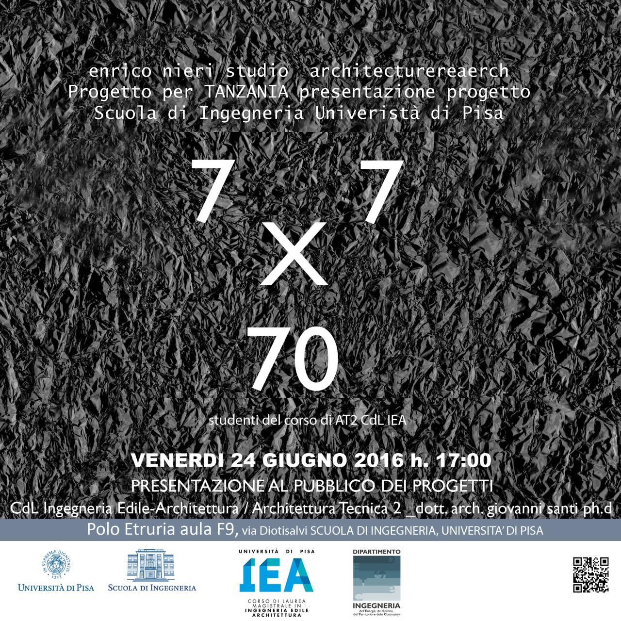 Conferenza Università di Pisa - Progetto concorso Tanzania.