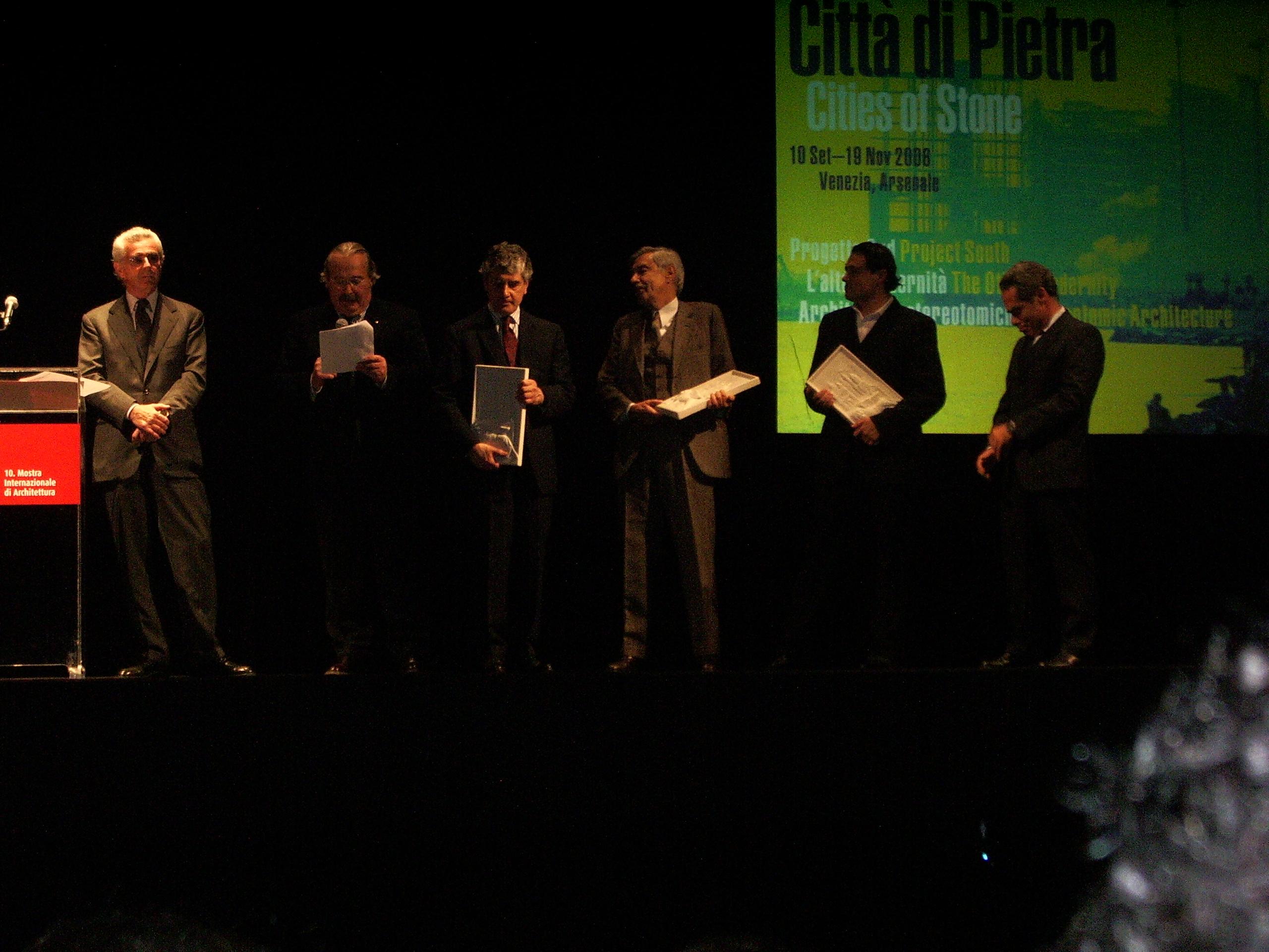 Leone di Pietra - La Fenice Biennale di Venezia - Premiazione