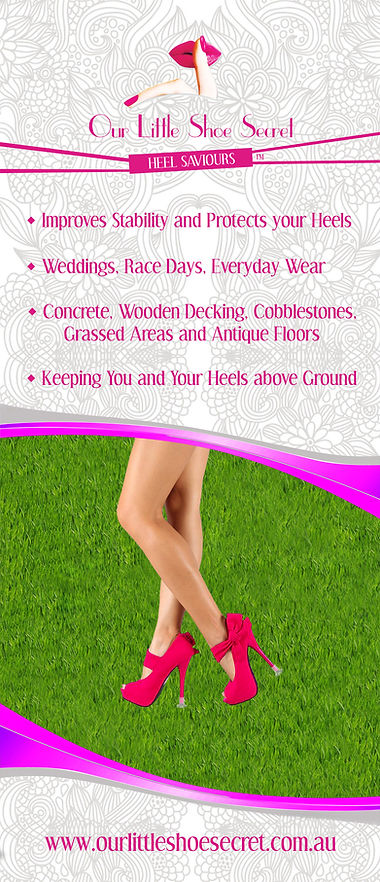 Protect your High Heels and Stilettos from damage and sinking into the ground. Heel Saviours, Heel Protectors, Heel Stoppers, Clean Heels, Secret Weapons, Flipsters, Starlettos