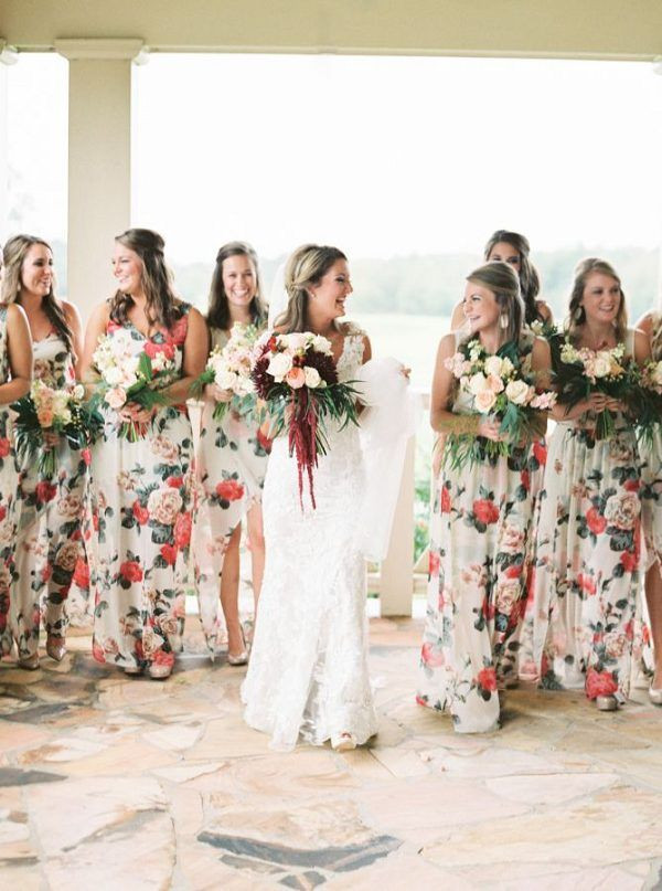 Bridesmaid Dresses Floral print