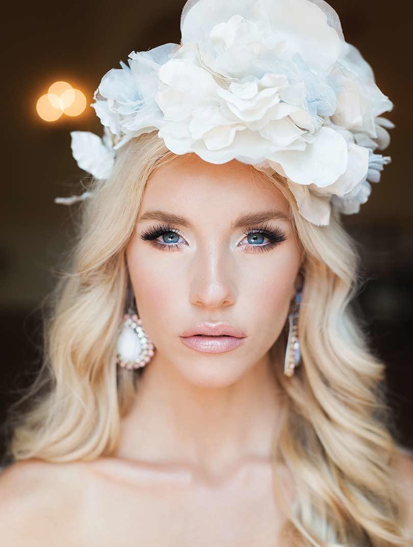 bride hair fascinator