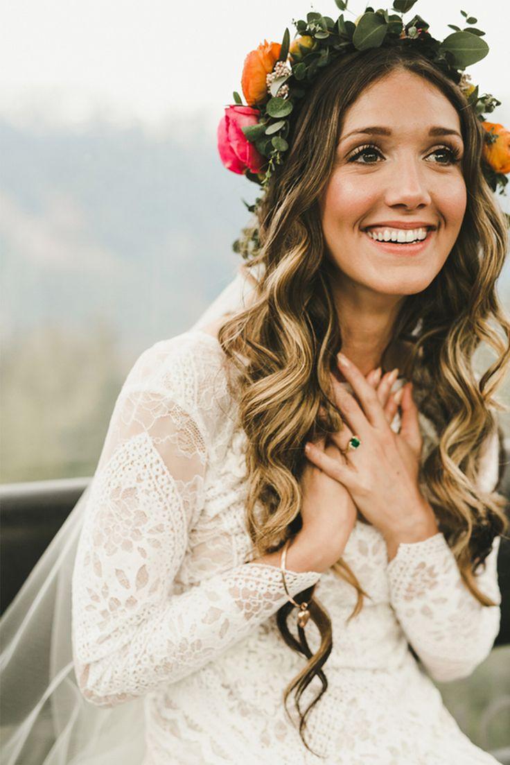 Boho wedding bride hair