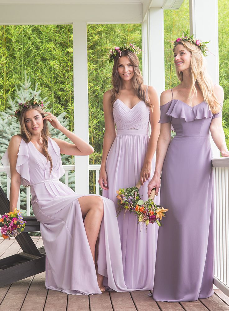 Bridesmaid Dresses purple pink musk