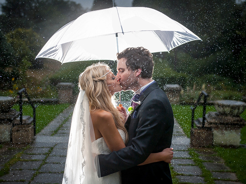 Rain isn't always bad on your wedding day
