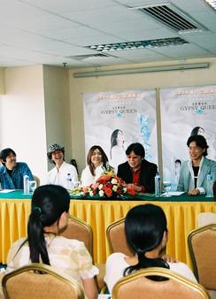 press conference in Chongqing, China