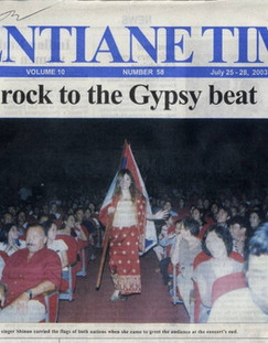 Laos Vientiane Times Cover