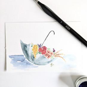 Flower Filled Umbrella