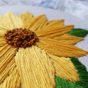 Sunflower Embroidery – Free Template