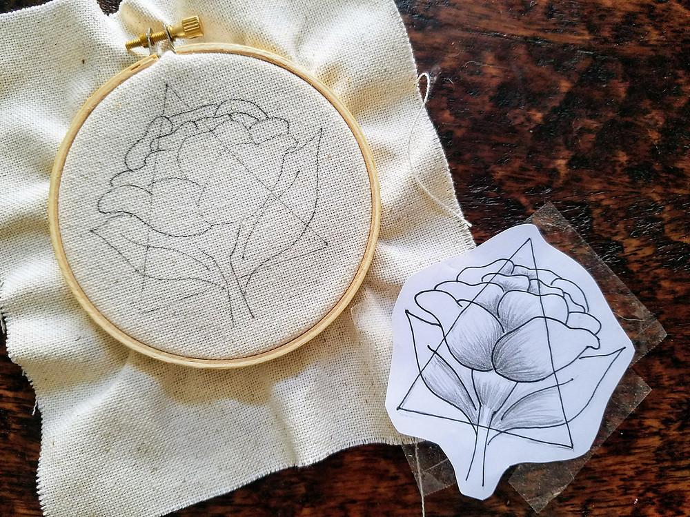 DIY Flower Embroider Template