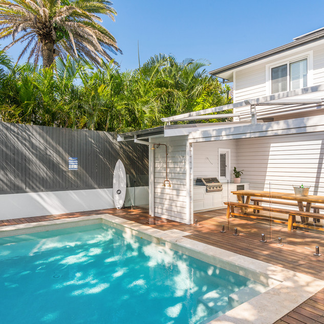 Private pool and entertainment deck