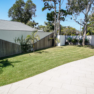 Private fence and yard