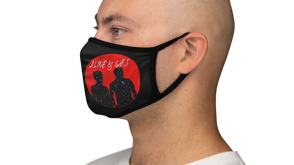 Fitted Polyester Face Mask - Red Moon
