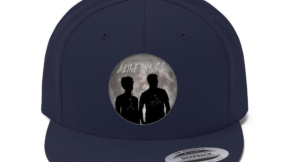 Unisex Flat Bill Hat - Moon