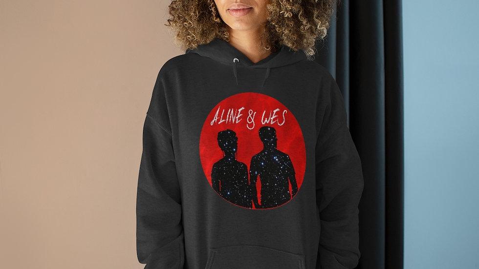 Unisex EcoSmart® Pullover Hoodie Sweatshirt - Red Moon