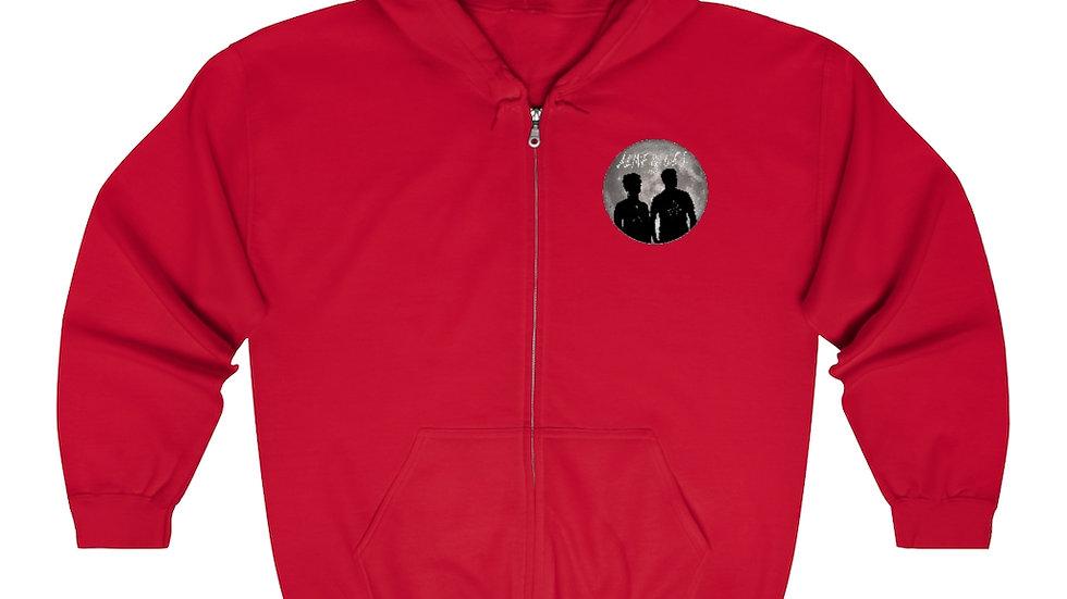 Unisex Zip Up Hoodie - Red Moon