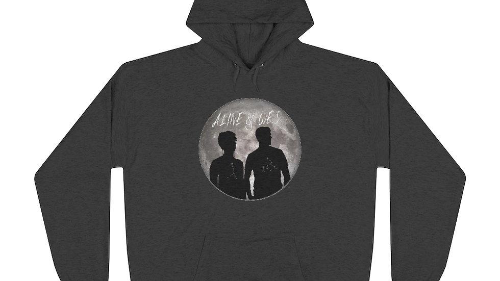 Unisex EcoSmart® Pullover Hoodie Sweatshirt - Moon