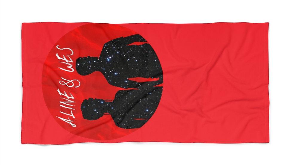 Beach Towel - Red Moon